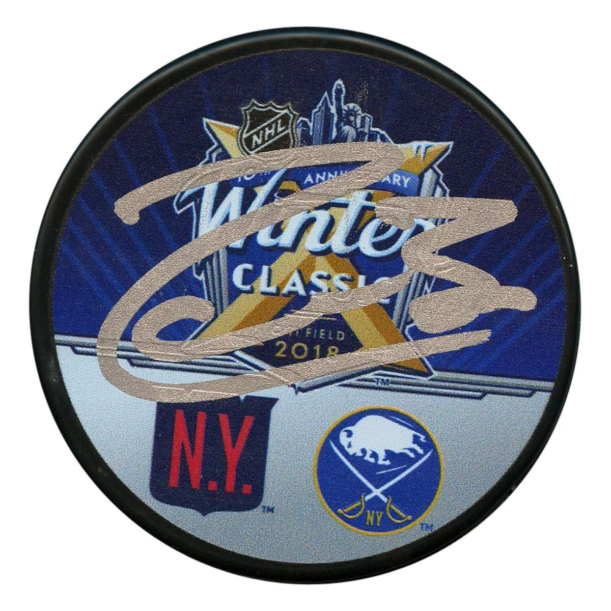 Mats Zuccarello Autographed Signed 2018 Winter Classic Puck - JSA Authentic