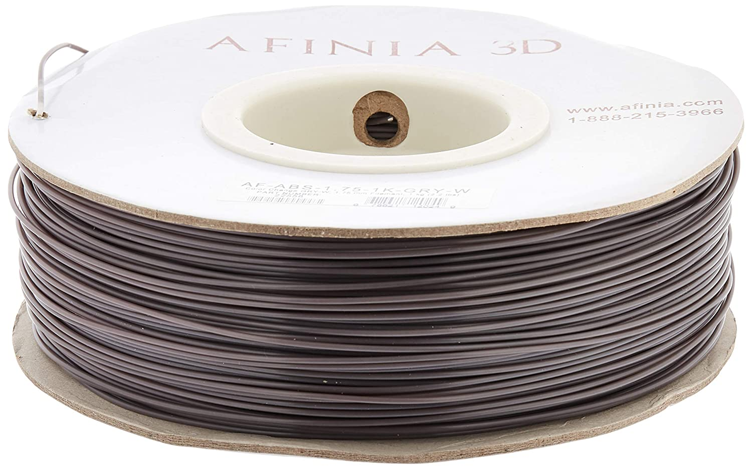 AFINIA AF-ABS-1.75-1K-GRY-W Value Line ABS Filament for 3D Printers Grey//White Wintec