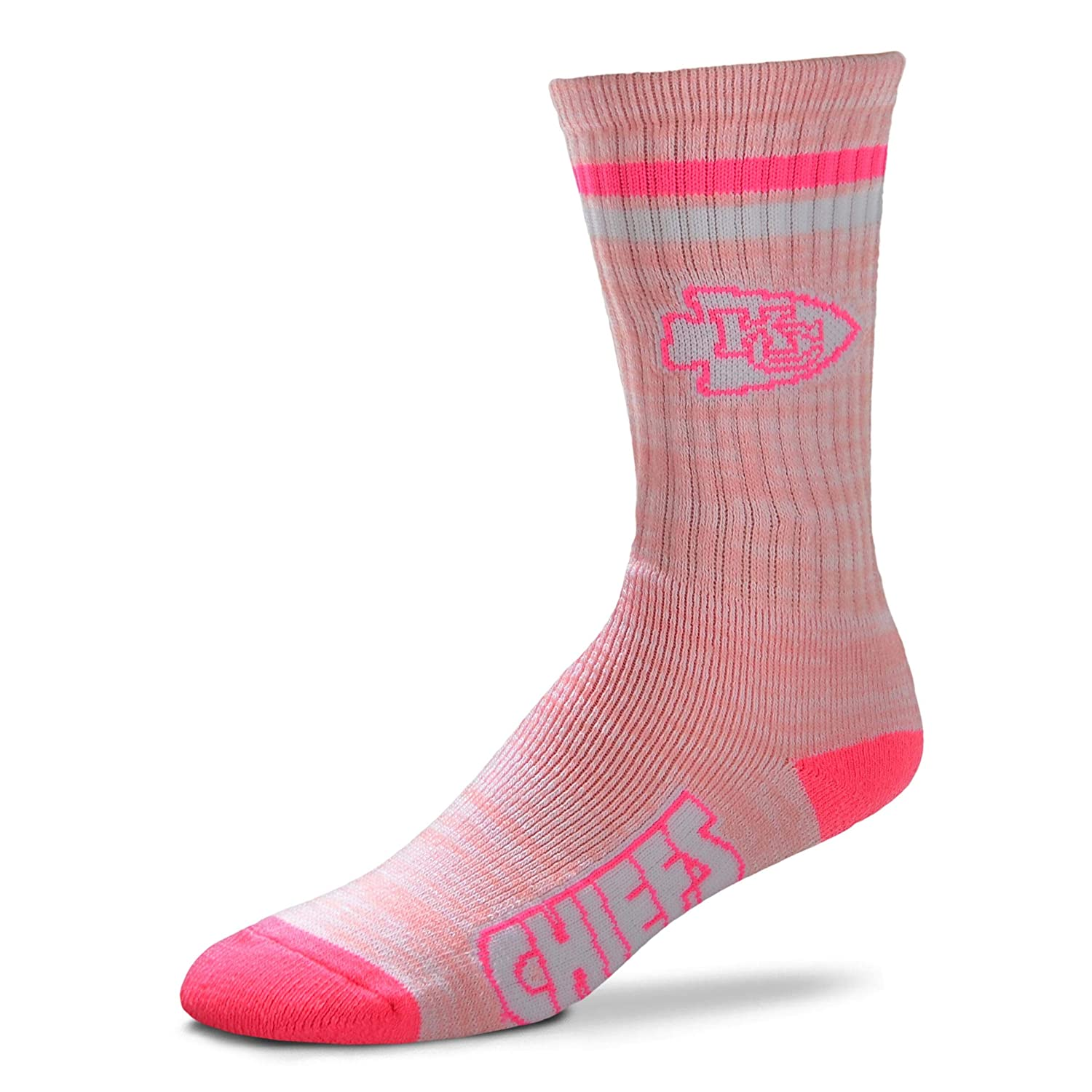 NFL Pretty in Pink Womens Crew Socks For Bare Feet