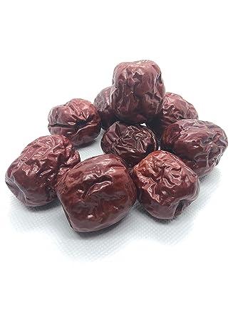 Dátiles Rojas Chinas Hong Zao Gran Fruta Natural Secada Fructus Jujubae Premium Calidad de la Medicina China: Amazon.es: Alimentación y bebidas