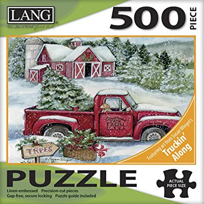 LANG Santa's Truck 500 Piece Jigsaw Puzzle: Toys & Games