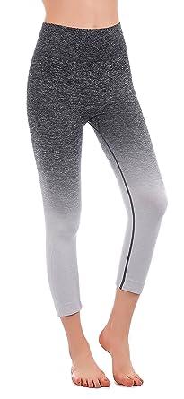 1fc6b2601f225c Freeskin Ombre Seamless Yoga Leggings Super Flexible High Waist Workout  Leggings Active Capri Yoga Pants for