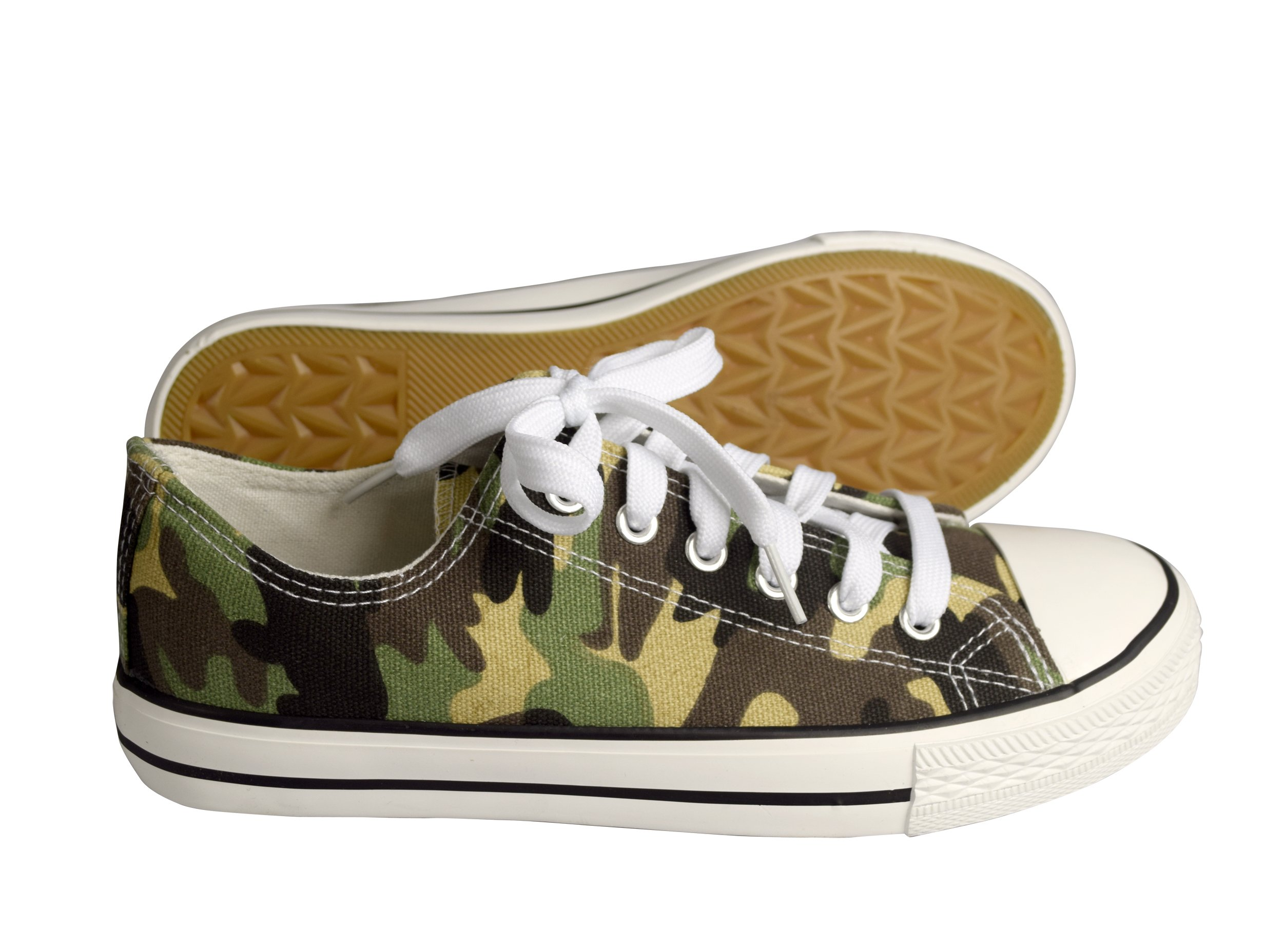 Peach Couture Casual Sneakers Low Top Tennis Shoes (5 B(M) US, Camo)
