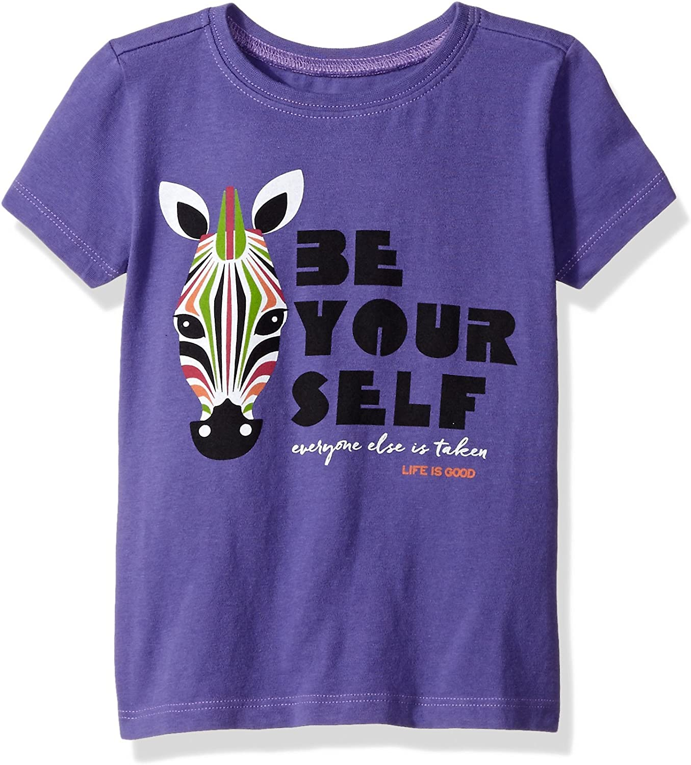 Life is Good Toddler Be You Zebra Tee