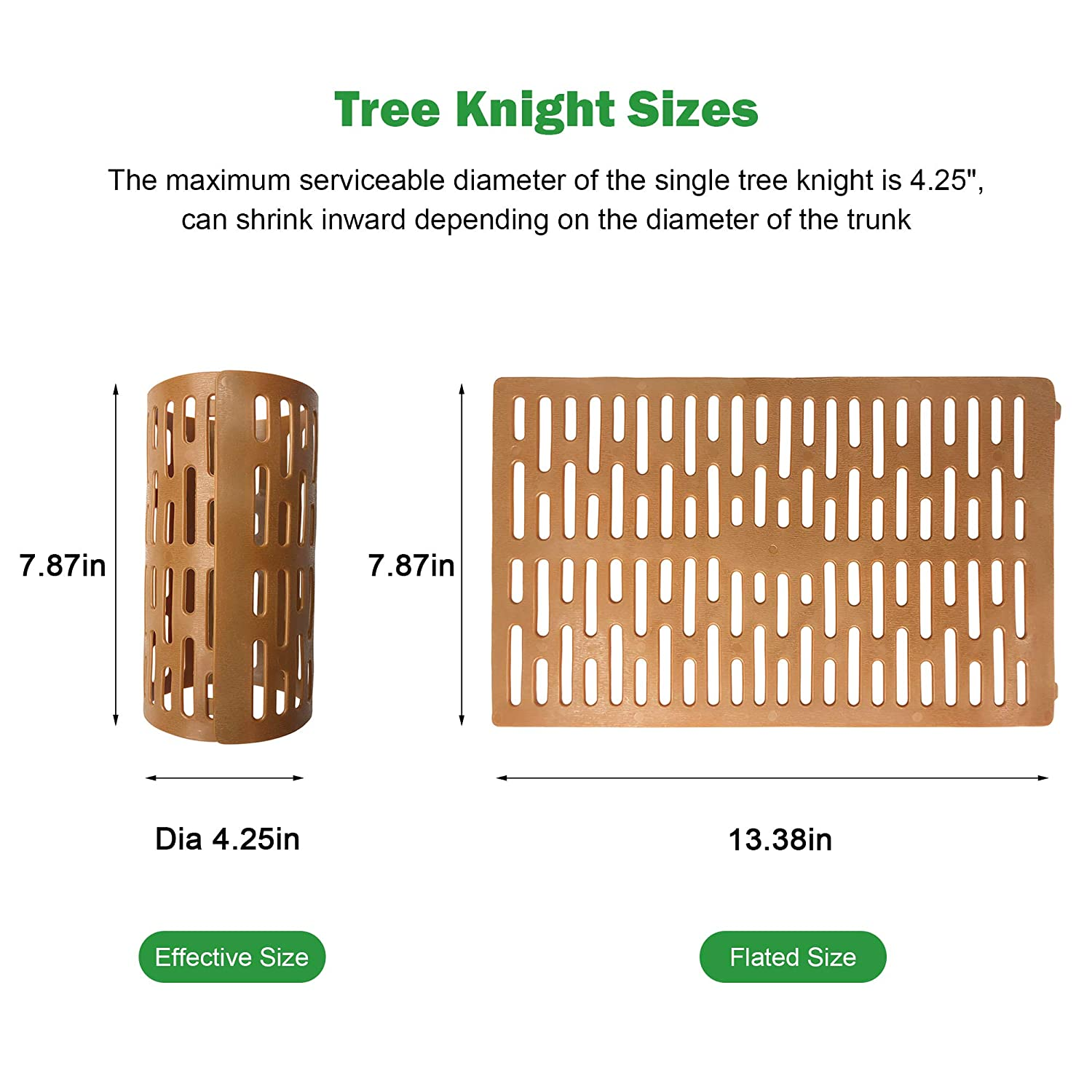 Dia4.38in,3pack PE Plant and Tree Guard Protects Plants from Deer and Rabbits Agfabric Tree Trunk Protector Tubes Guard