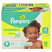 Pampers Swaddlers Diapers Size 6 72 Count