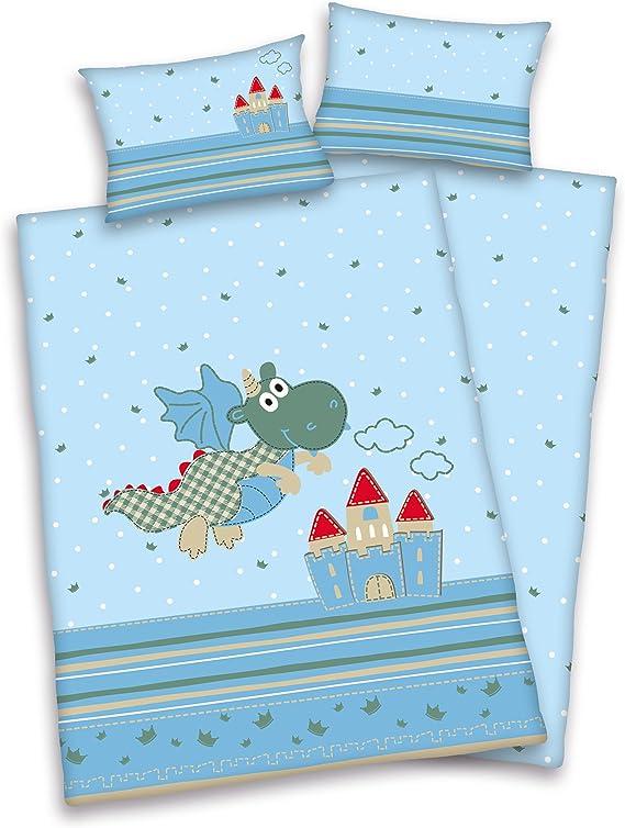 Herding 248513063 - Juego de Fundas para edredón, 100 cm x 135 cm, Color Azul
