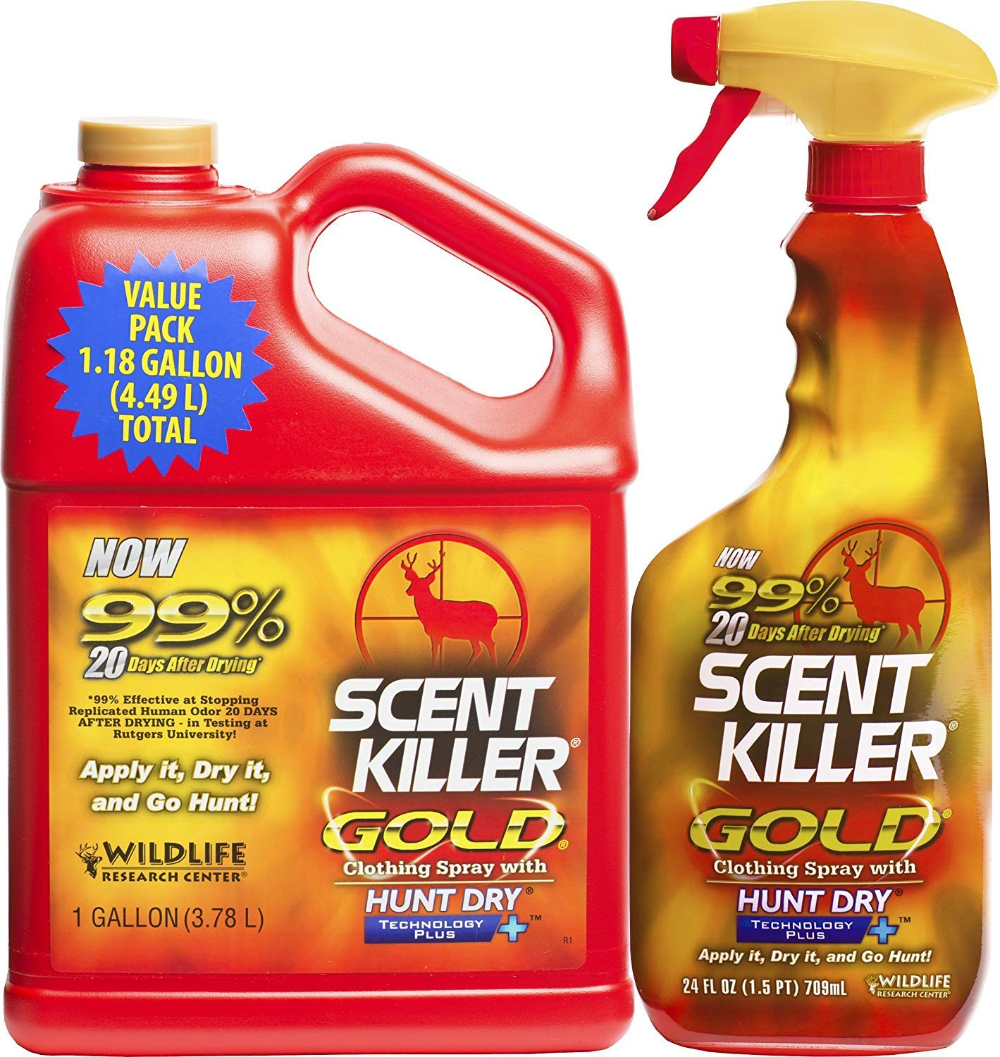Wildlife Research Gold 1 Gallon Re-Filler Combo Scent Killer (Limited Edition)