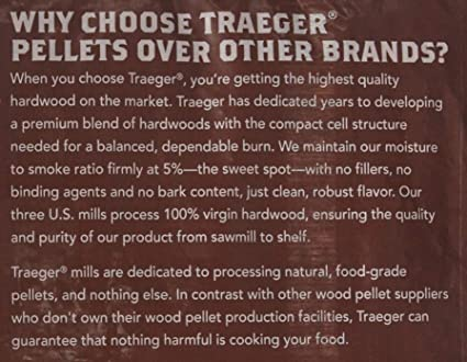 and BBQ Bake Braise Roast Smoke Grill 20 lb. Bag Traeger Grills PEL331 Signature Blend 100/% All-Natural Hardwood Pellets