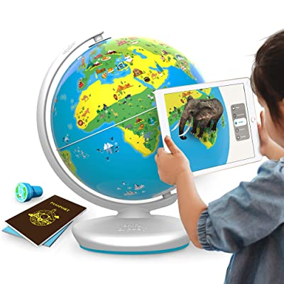 Shifu Orboot (App Based): Augmented Reality Interactive Globe For Kids, Stem Toy For Boys & Girls Ages 4+ Educational Toy Gift (No Borders, No Names On Globe): Toys & Games