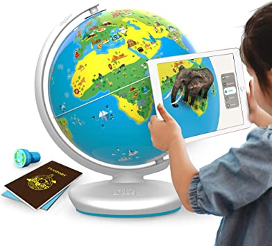 STEM Toy for Boys /& Girls Age 4 to 10 years No Borders or Names on Globe Ideal Gift for Kids Augmented Reality Based Globe Shifu Orboot: The Educational