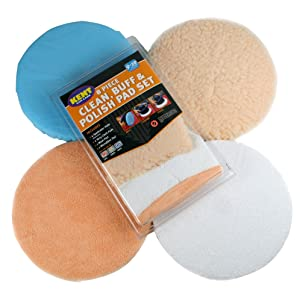 Kent Q8009 8-Piece Clean, Buff and Polish Pad Set