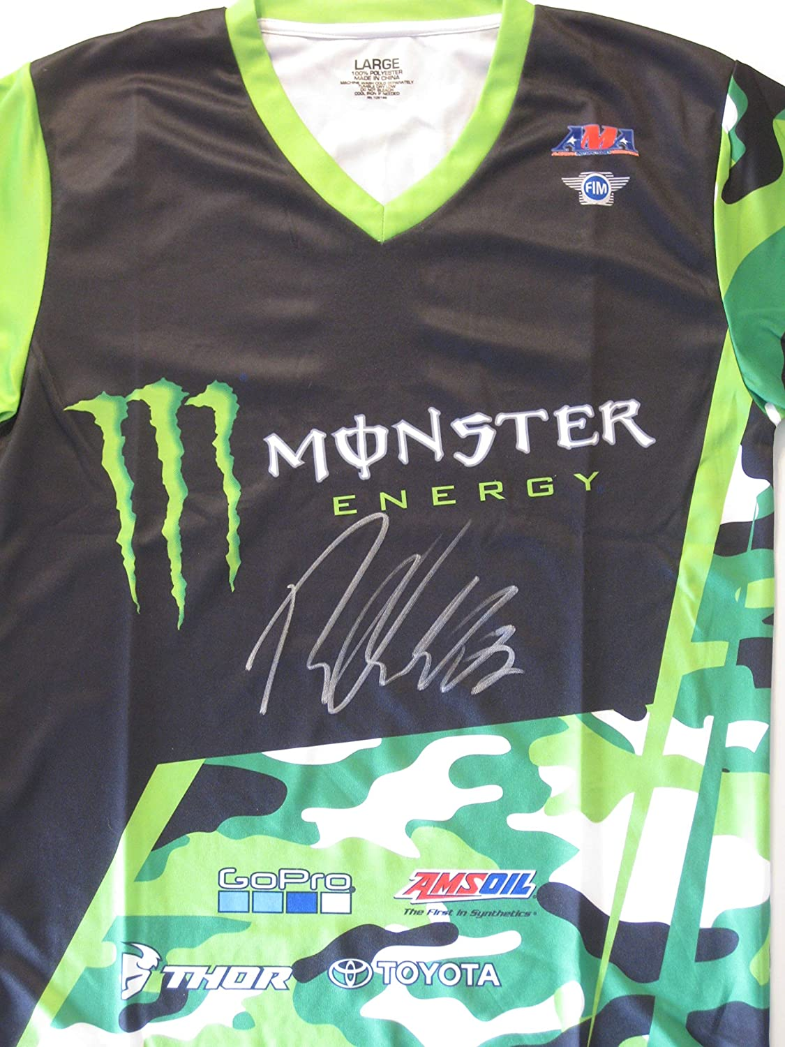 Ryan Villopoto Supercross Motocross signed autographed Monster Energy Jersey b80348857
