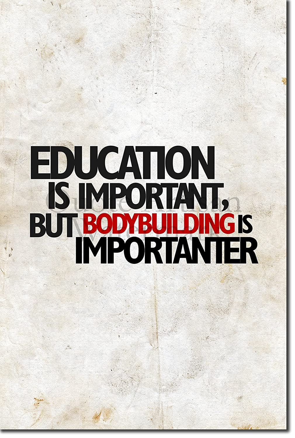 Amazoncom Education Is Important But Bodybuilding Is Importanter