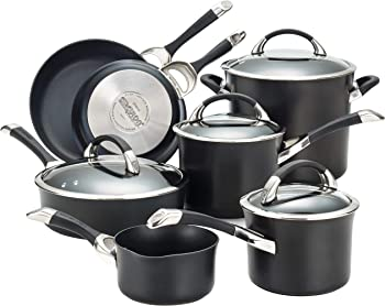 Circulon 87376 Symmetry Hard Anodized 11-Piece Cookware Set