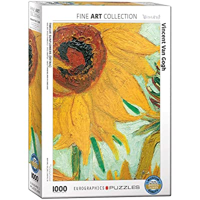 Sunflowers by Vincent Van Gogh 1000-Piece Puzzle: Toys & Games