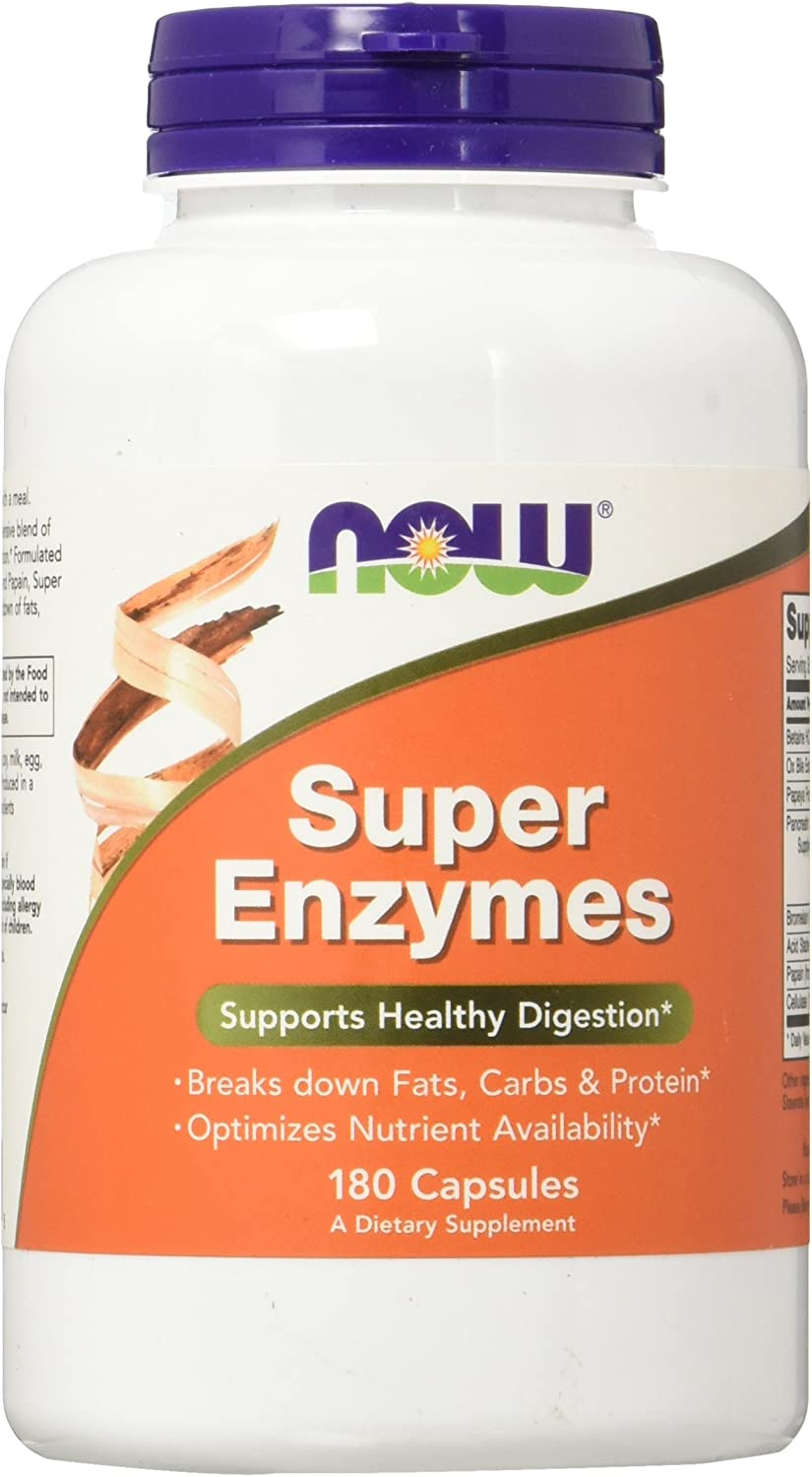 NOW Super Enzymes 180 Capsules
