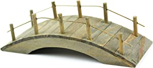 Touch of Nature Mini Fairy Garden Wooden Bridge, 1.8 by 3.9-Inch, Wood