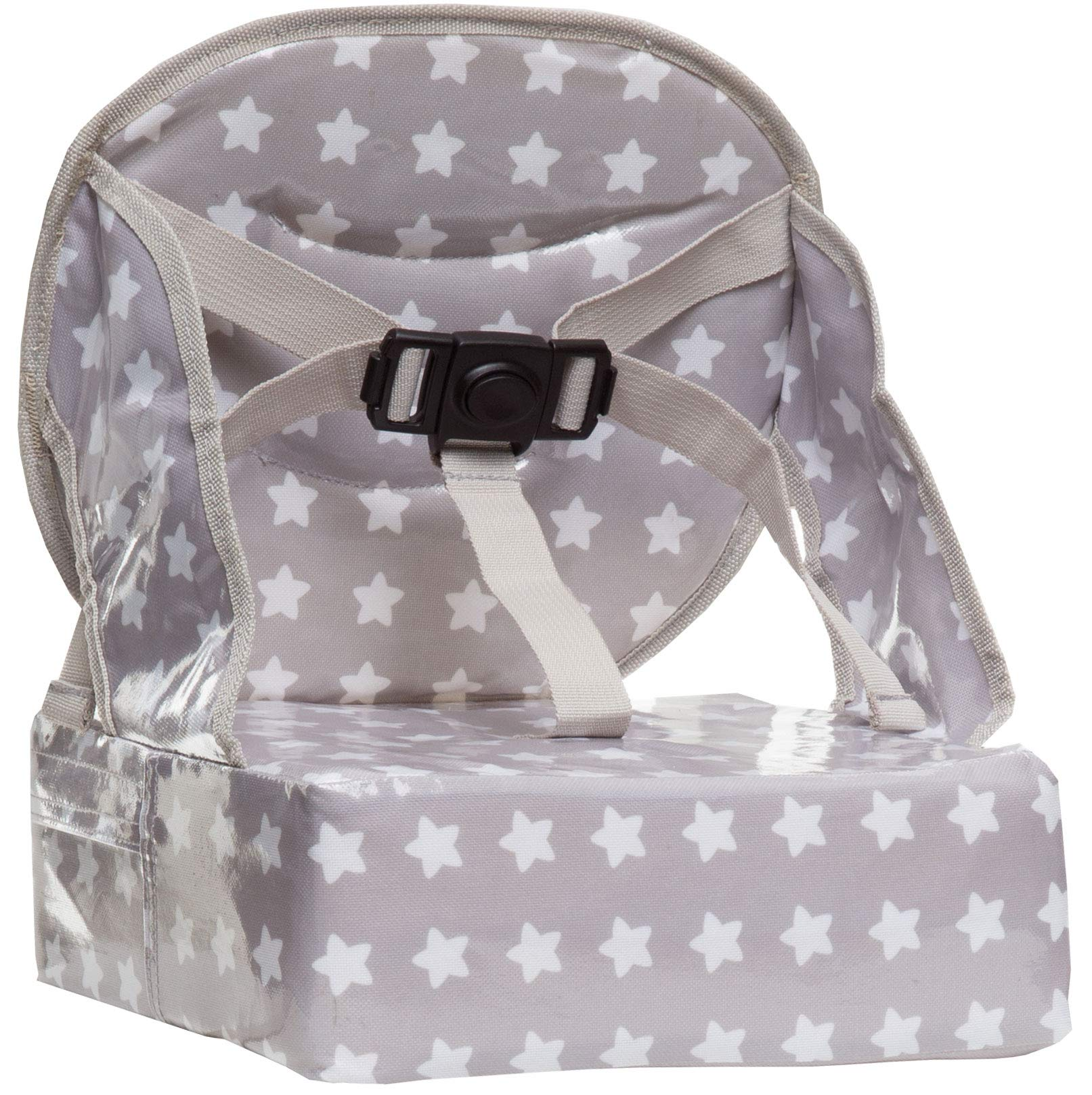 Baby-To-Love Easy Up, Portable Baby Feeding Chair Cushion and Booster Seat for Toddler (White Stars) by BabyToLove