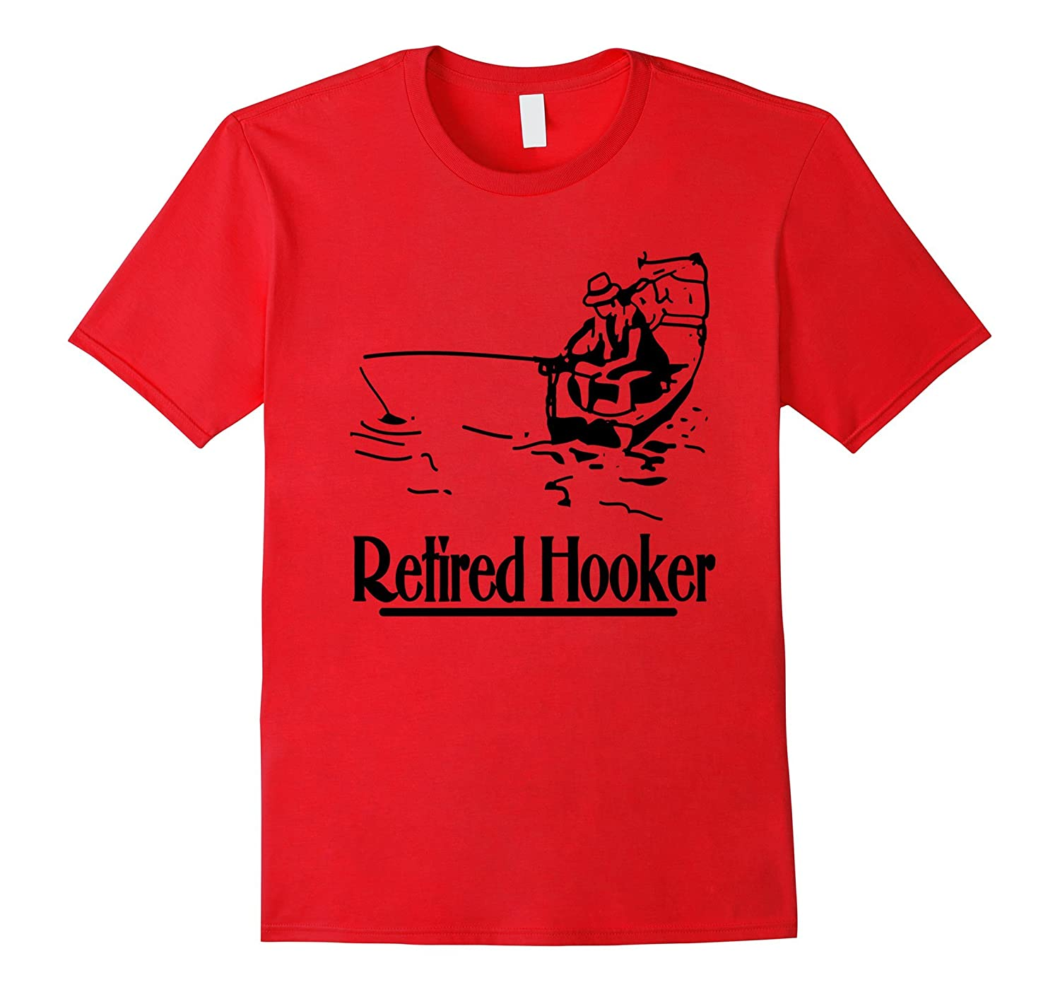 MOM AND POP FUNNY WEEKEND FISHING RETIRED HOOKER T-SHIRT-Vaci