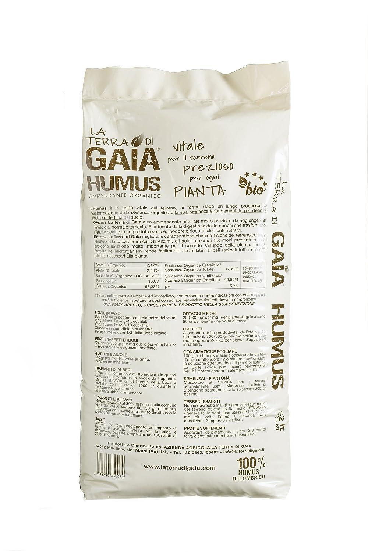 Gaia La tierra de Humus de Lombrico-Bolsa de 45 L.: Amazon ...