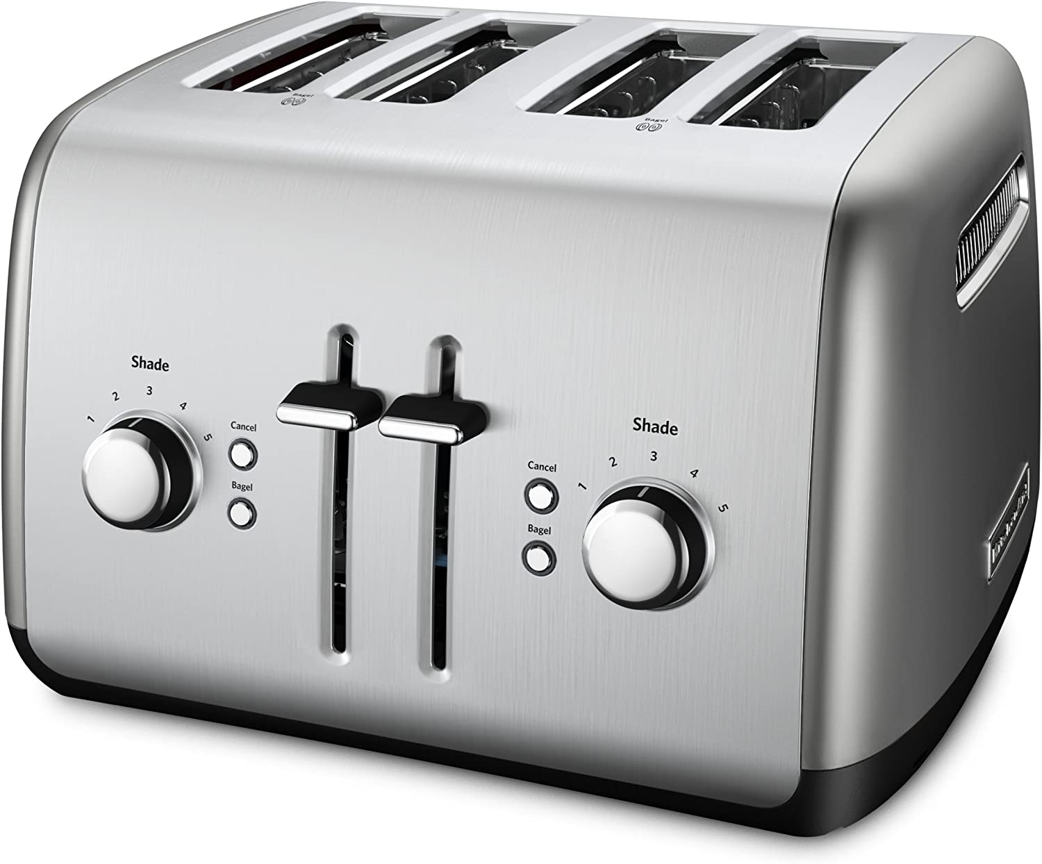 KitchenAid 4-Slice Toaster with Manual High-Lift Lever | Contour Silver (Renewed)