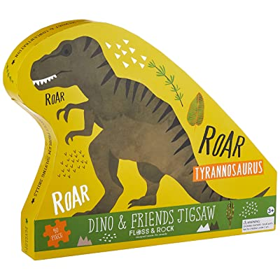 Floss and Rock Dinosaur 40 pc Jigsaw with Shaped Box Puzzles for Ages 3 to 7: Toys & Games [5Bkhe1402865]