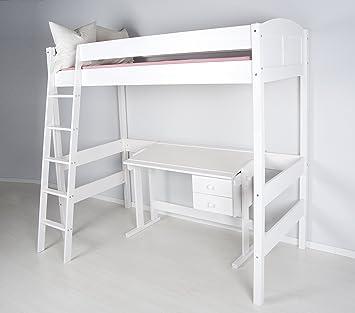 Letto a soppalco Ida 4106 Bianco Alto 180 cm: Amazon.it: Casa e cucina