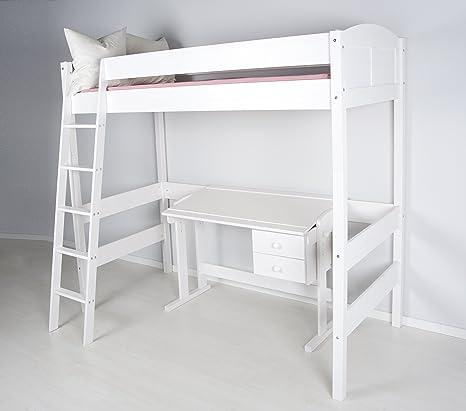 Letto Soppalco Singolo.Lilokids Letto A Soppalco Ida 4106 Altezza 180 Cm Colore Bianco