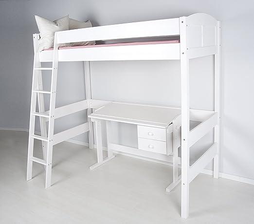 Letto Soppalco.Lilokids Letto A Soppalco Ida 4106 Altezza 180 Cm Colore Bianco