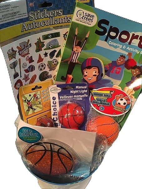 sports-theme niños de juego de papelera, pegatinas, para colorear ...