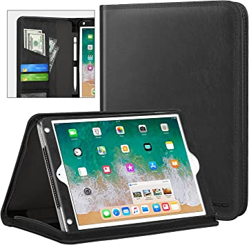 MoKo Funda para iPad 9.7 2018/2017, Cubierta Portátil Genuino Estuche Plegable con Ranuras para Tarjeta de Documento para iPad 9.7