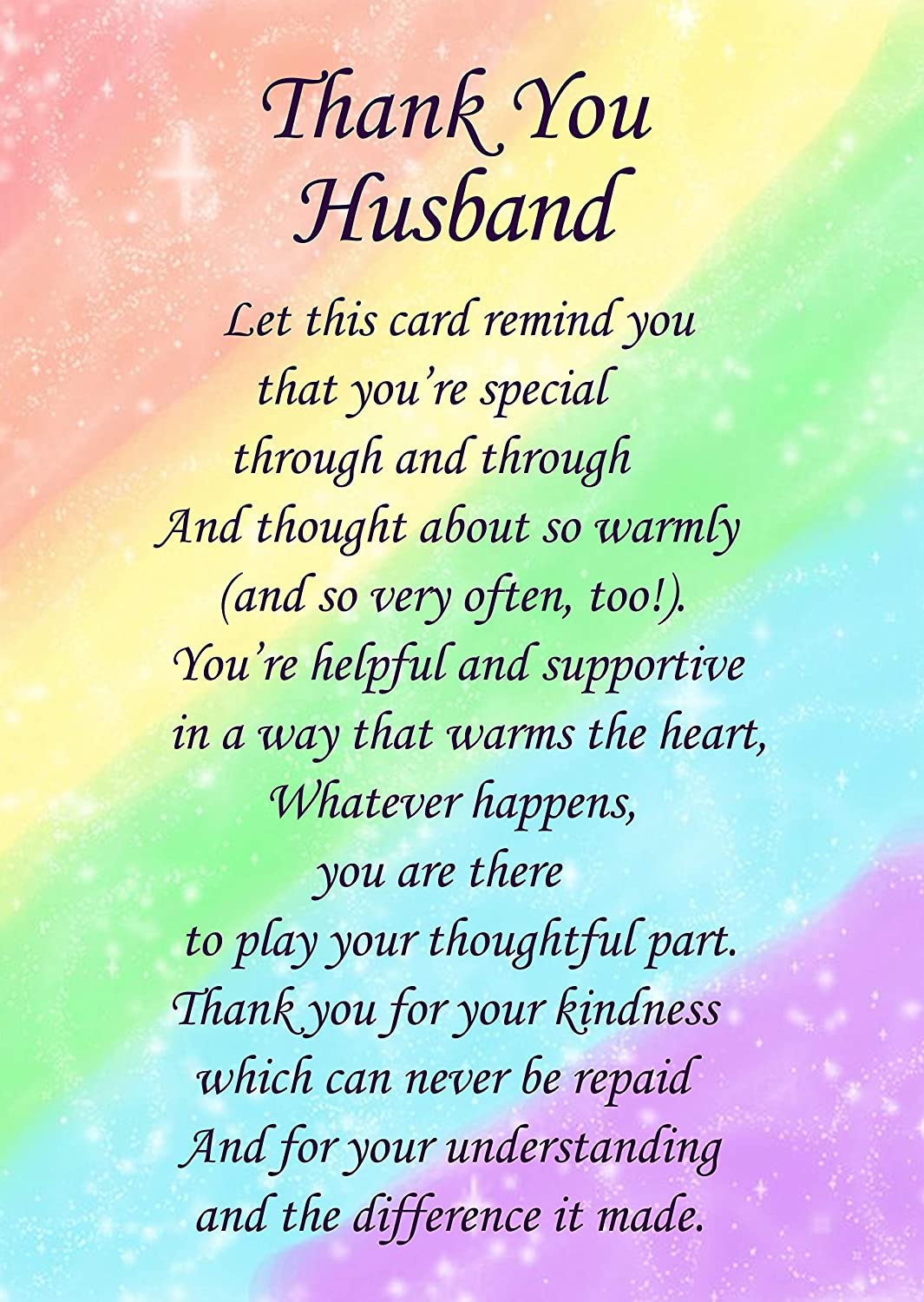 Love and appreciation poems for husband   Thank You Poems