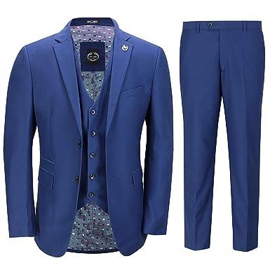 Xposed - Traje - para Hombre Azul Azul Marino 27: Amazon.es ...