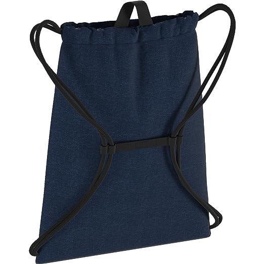 adidas RUN GYM BAG, Sacs à dos mixte adulte, Bleu (Brebas/Negro/Reflect), 24x15x45 cm (W x H x L)