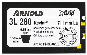 Arnold 4511 - 3L de 0280 X de Grip - Correa trapezoidal, 3l280 ...