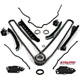 TK3060TCS Timing Chain Kit w/ Updated Tensioners & (Fel-Pro) Timing Cover Gasket Seal Set for 04-10 Ford 5.4L (3-Valve) Engine SOHC V8 Expedition F-150 F-250 & F-350 Super / Lincoln Mark LT Navigator
