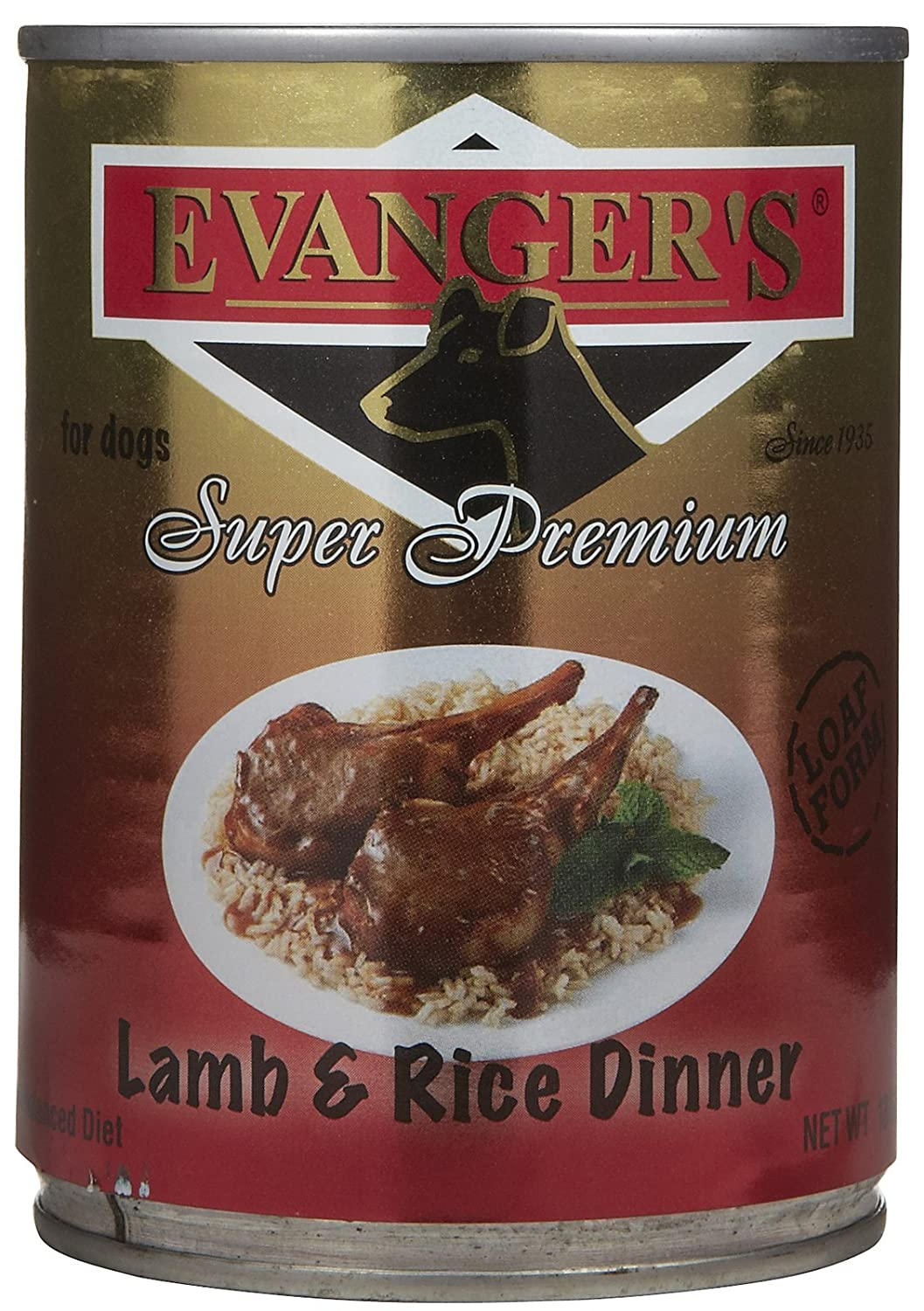 Evanger's Super Premium for Dogs Lamb and Rice Dinner 12-Pack