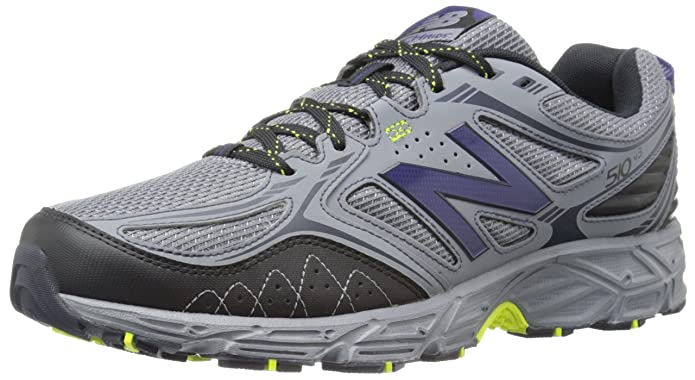 New Balance Men's 510v3 Trail Running Shoe, Grey/Yellow, 10 4E US