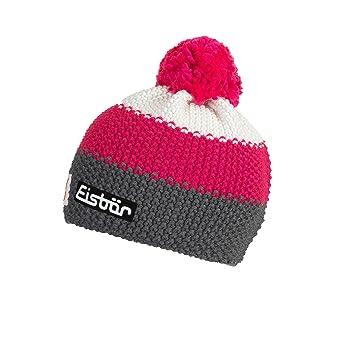 ff9e90fe10ba Eisbär Child Star Pompon SP Hat, Children s, 407164,  anthrazit pittipink White