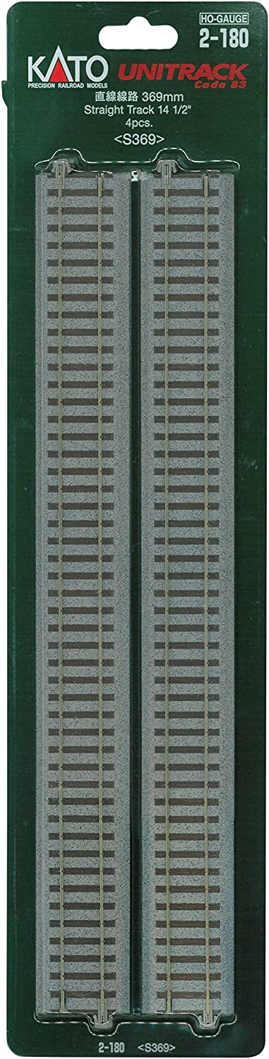 Kato 2-180 369mm 14 1//2 Straight Track S369 4 pieces HO scale