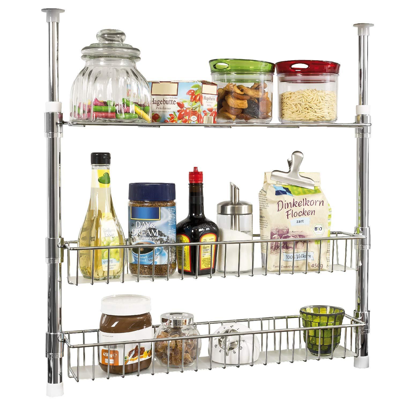 cestas y estantes bremermann Estanter/ía telesc/ópica para Cocina con Estante