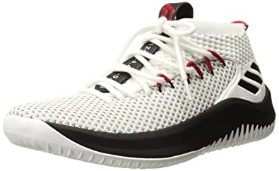 adidas Performance Men's Dame 4, White/Black/Scarlet, 7.5 Medium US