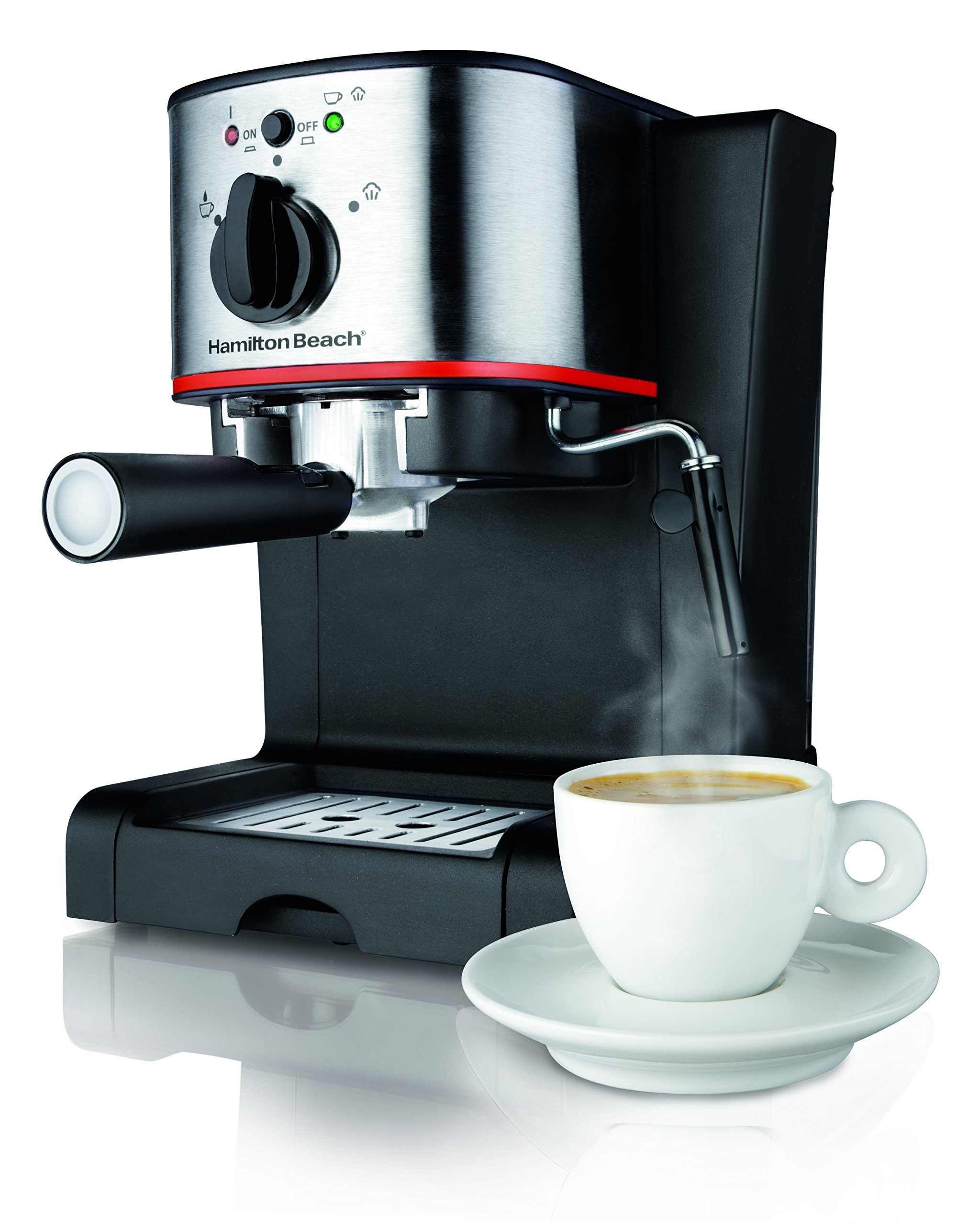 Hamilton Beach 40792 Espresso & Cappuccino Maker, Black by Hamilton Beach