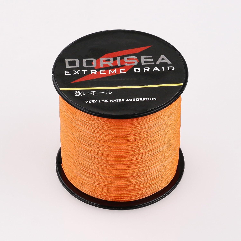 DORISEA Extreme Braid 100/% Pe 1000m//1093Yards Braided Fishing Line 6-500Lb Test Fishing Wire Fishing String-Abrasion Resistant Incredible Superline Zero Stretch Small Diameter