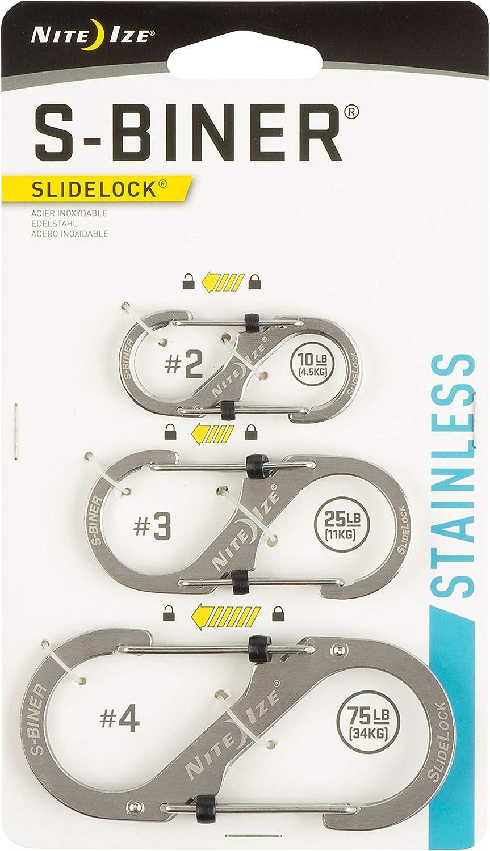 Nite Ize S-Biner SlideLock en acier inoxydable # 3/ /inoxydable