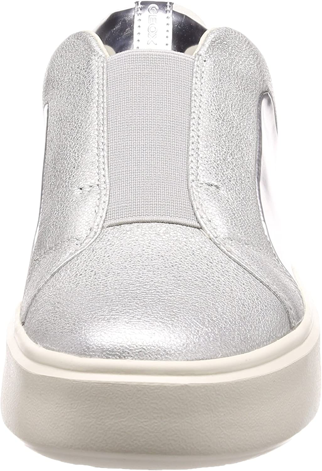 Geox - Sneakers Slip on Donna in Pelle con Platform - Argento Nhenbus D828DB 0KYBN C1007 - D828DB 0KYBN C1007 Argento