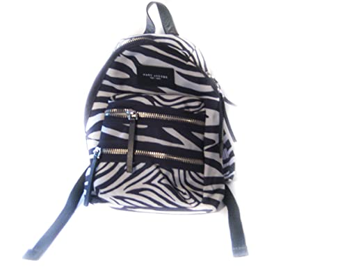 c749ecd94e Image Unavailable. Image not available for. Color  Marc By Jacobs Mini Zebra  Printed Biker Back pack ...