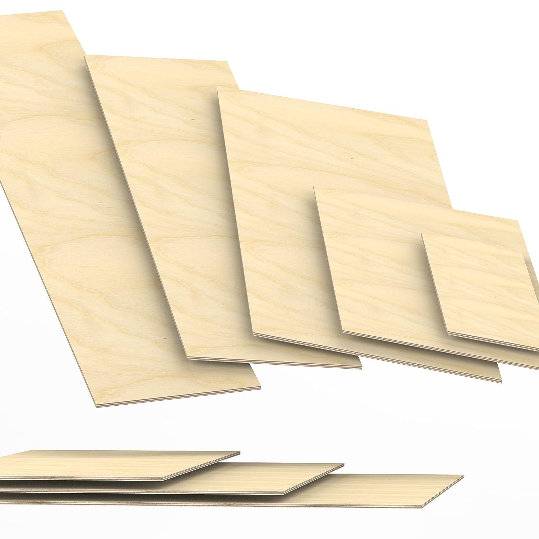 6mm Sperrholz-Platten Zuschnitt L/änge bis 150cm Birke Multiplex-Platten Zuschnitte Auswahl 100x10 cm