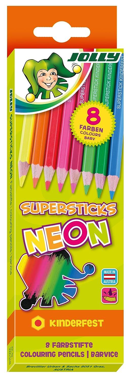 Jolly pastelli fluorescente 3000-0448 (8) scatola cartone-3000-0448